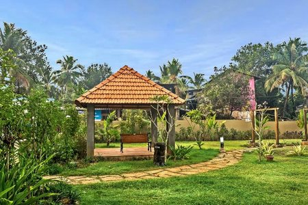 Tridentia Prudential Petunia Landscaped Garden and Kids Play Area Picture. Gogol, Margao. Project Ready for Possesion