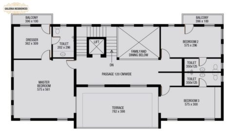 Villa1 First Floor Plan