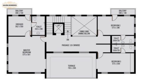 Villa1 First Floor Plan