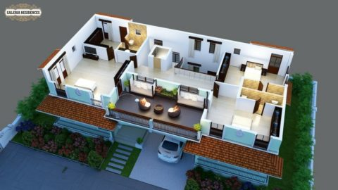 Villa1 First Floor Roof Cut