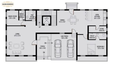 Villa1 Ground Floor Plan