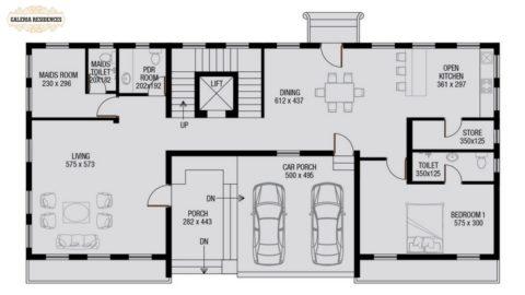 Villa1 Ground Floor Plan