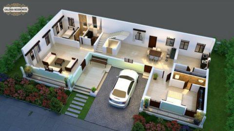 Villa1 Ground Floor Roof Cut
