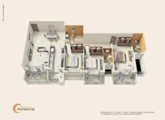 3 BHK – Type 2 – Area 169 Sq. Mts.