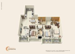 3 BHK – Type 1 – Area 175 Sq. Mts.