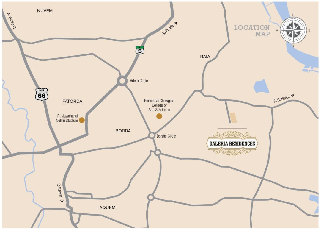 Tridentia Galeria Residences Location Map