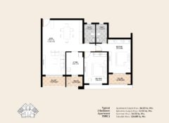 2 BHK – Type 2 – Area 124 Sq. Mts.