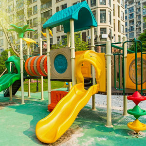 Dedicated play area and garden equipments for children at Tridentia Panache