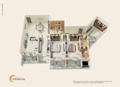 3 BHK – Type 3 – Area 180 Sq. Mts.