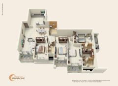 4 BHK – Type 1 – Area 224 Sq. Mts.