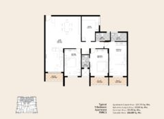 3 BHK – Type 3 – Area 184 Sq. Mts.
